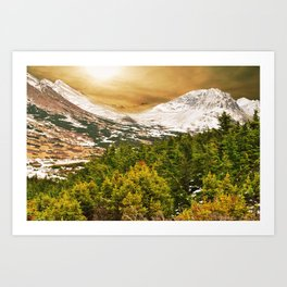 Over the Mountain Art Print