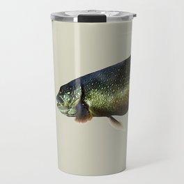 Trout on Beige Travel Mug
