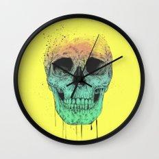 Pop art skull Wall Clock