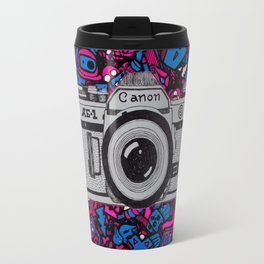 canon retro art Travel Mug