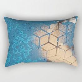 Cube Familiar Place - Made With Unicorn Dust by Natasha Dahdaleh Rectangular Pillow