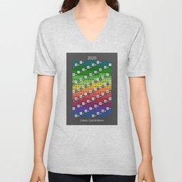 2020 Rainbow Calendar unique structure Unisex V-Neck