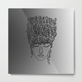 stop it black and white Metal Print