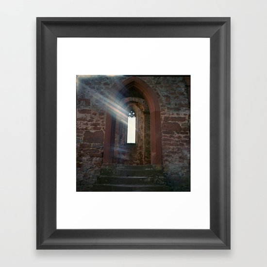 Limburg with Light Leak Framed Art Print
