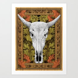 Cow Skull - Bohemian Decoration Art Print
