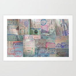 A Celebration of Passport Stamps Art Print