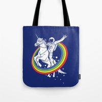 unicorn Tote Bags featuring Epic Combo #23 by Jonah Makes Artstuff