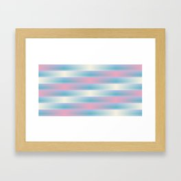Pink Blue and Yellow Weave Pattern Framed Art Print