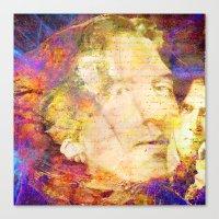 oscar wilde Canvas Prints featuring Oscar Wilde by Joe Ganech
