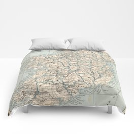 Vintage Map of Ireland (1893) Comforters