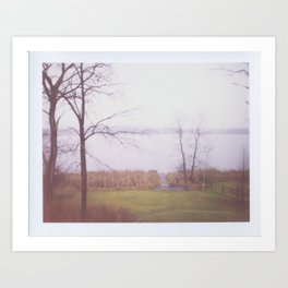 Wintry Lake Art Print