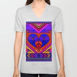 Art Deco Valentine Unisex V-Neck