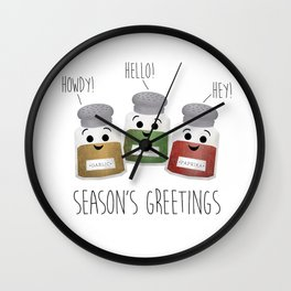 Season's Greetings | Garlic, Oregano & Paprika Wall Clock