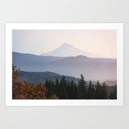 Mount Hood over the Columbia River Gorge Art Print