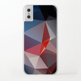Blues and Reds Abstract Pyramid Art Clear iPhone Case