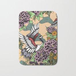 Cranes (Pink) Bath Mat