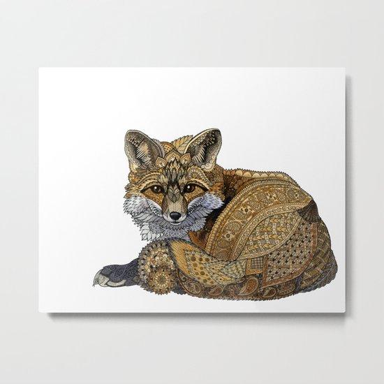 Fox Kit Metal Print