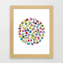 Drugs N Pills Framed Art Print