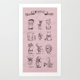 I love monster 2 Art Print