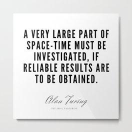 27   | Alan Turing Quotes  | 190716 | Metal Print
