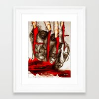 zombies Framed Art Prints featuring Zombies by Rafael Salazar
