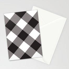 Gingham - Black Stationery Cards