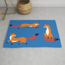 Red Foxes Rug