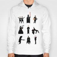 men Hoodies featuring Men in Black by Eric Fan