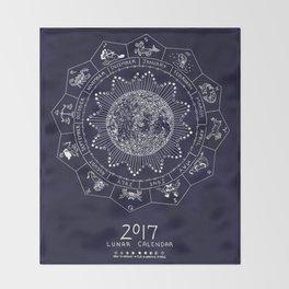 Lunar Calendar 2017 Throw Blanket