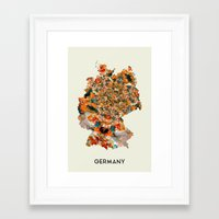 germany Framed Art Prints featuring Germany by In Full Color