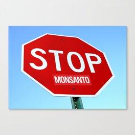 STOP MONSANTO Canvas Print