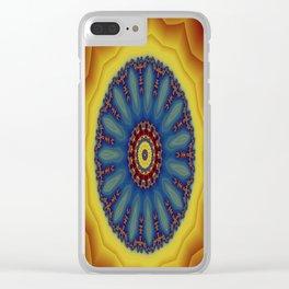 """Kaliedoscope/Mandala - """"Waves"""" Clear iPhone Case"""