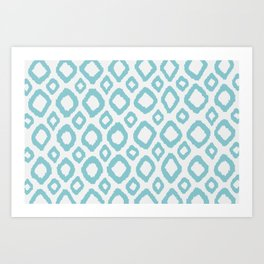 Ikat Turquoise/Blue Art Print