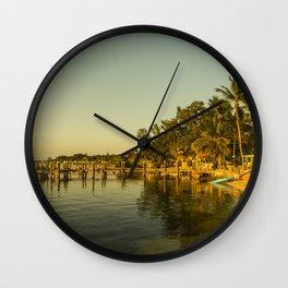 Key Largo Gold Wall Clock