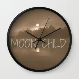 Moon Child Reflections | Photography Wall Clock