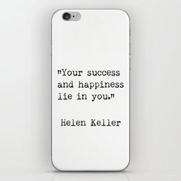 Helen Keller. Success and happiness. iPhone Skin