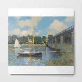 Claude Monet The Bridge at Argenteuil 1874 Metal Print