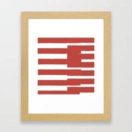 Big Stripes In Red Framed Art Print