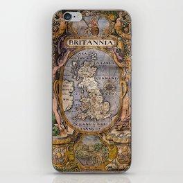 Map Of Britain 1607 iPhone Skin