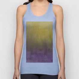eggplant and gold watercolor Unisex Tank Top