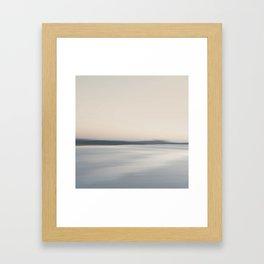 Coast line. Abstract minimal seascape. Framed Art Print