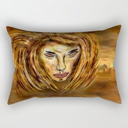 The King of Africa Rectangular Pillow