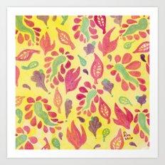 GrapeLeaves Art Print