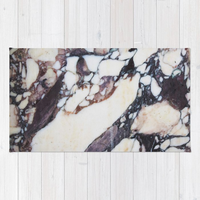 Mauve marble classic Rug