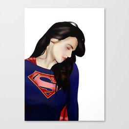 Lena Luthor in Supersuit Canvas Print