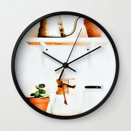 Plant Wall || #society6artprint #buyart Wall Clock