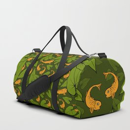 Koi Pond Pattern Duffle Bag