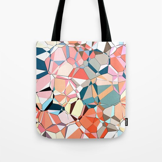 Jumble of Shapes And Colors Tote Bag