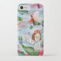 siren iPhone & iPod Cases featuring SIREN by Lauraballa StudioArte