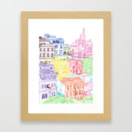 Valparaiso, Chile Framed Art Print